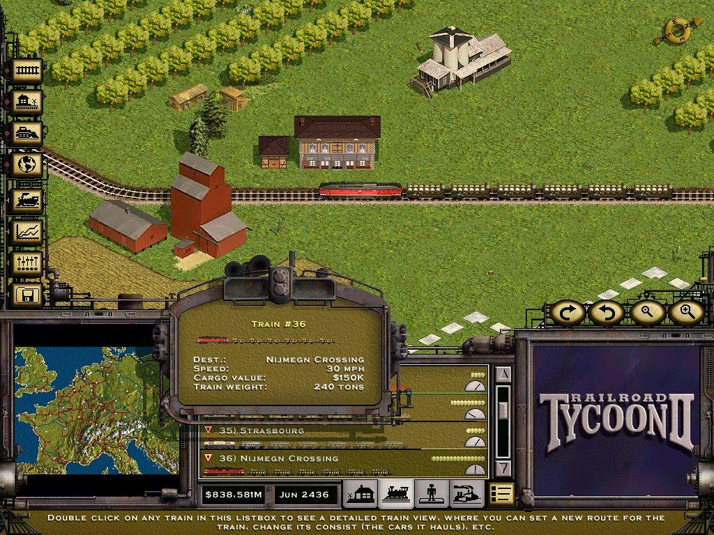 Acido's Website - RailRoad Tycoon II Screenshots