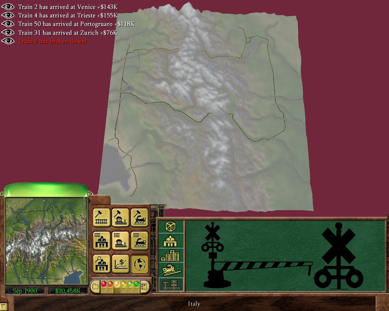 Acido's Website - RailRoad Tycoon 3 Screenshots